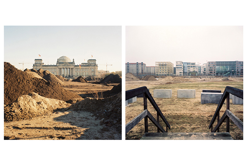 Sudden Earth - The Re-landscaping of the Reichstag and The Pre- construction of the Memorial to the Murdered Jews of Europe, Berlin (2001),C type photograph, 106cm x 106cm